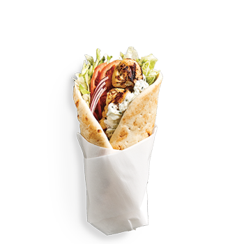 Classic Pita is our Signature 7 inch pita with lettuce, onion, tomato, choice of dip, side and bottled pop. PICK YOUR PROTEIN: Chicken, Spicy Chicken, Pork, Gyro, Falafel